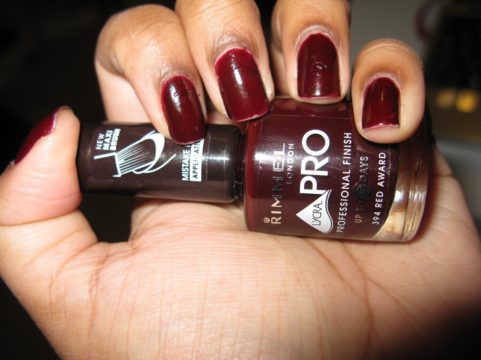 Rimmel Professional Finish Nail Polish- Red Award | Bug\'s Beauty Blog