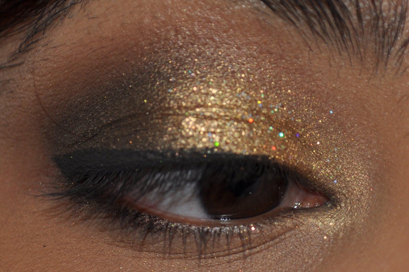 Gold Glitter New Years Smokey Eyes Bugs Beauty Blog