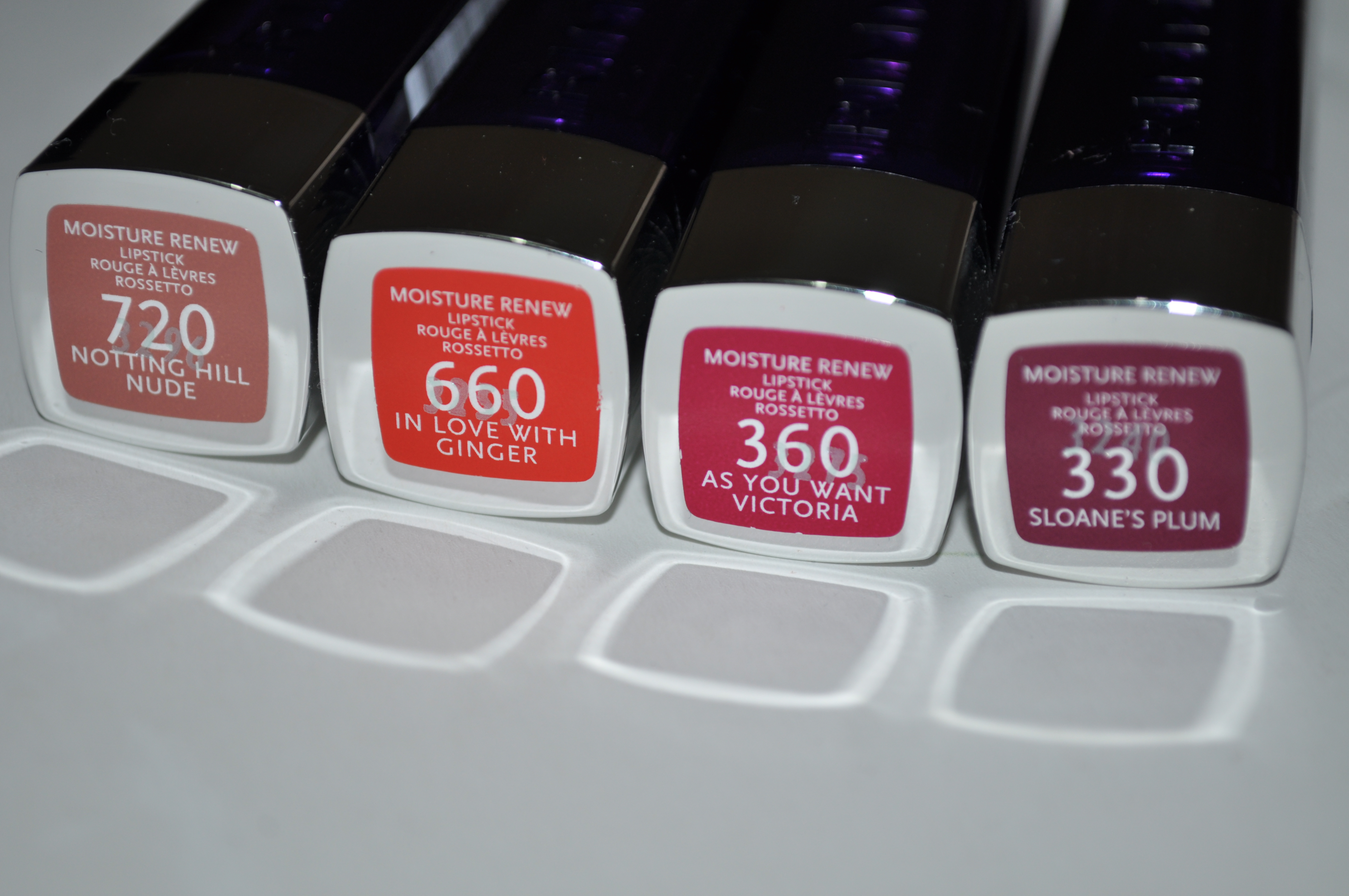 Rimmel Moisture Renew Lipsticks- swatches and review | Bug's ...
